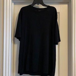 Men's ribbed black short sleeve shirt, Size M